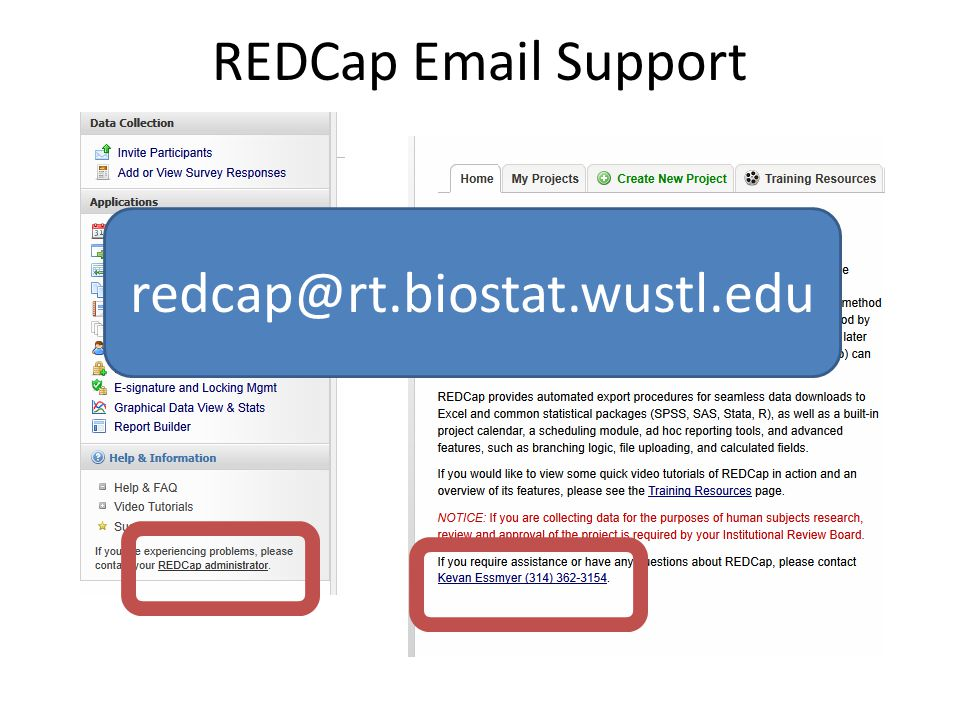 REDCap  Support