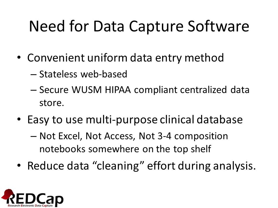 Need for Data Capture Software