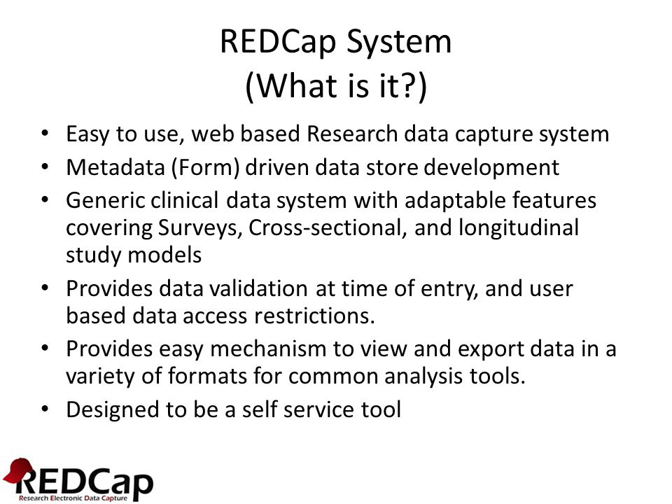 REDCap System (What is it )