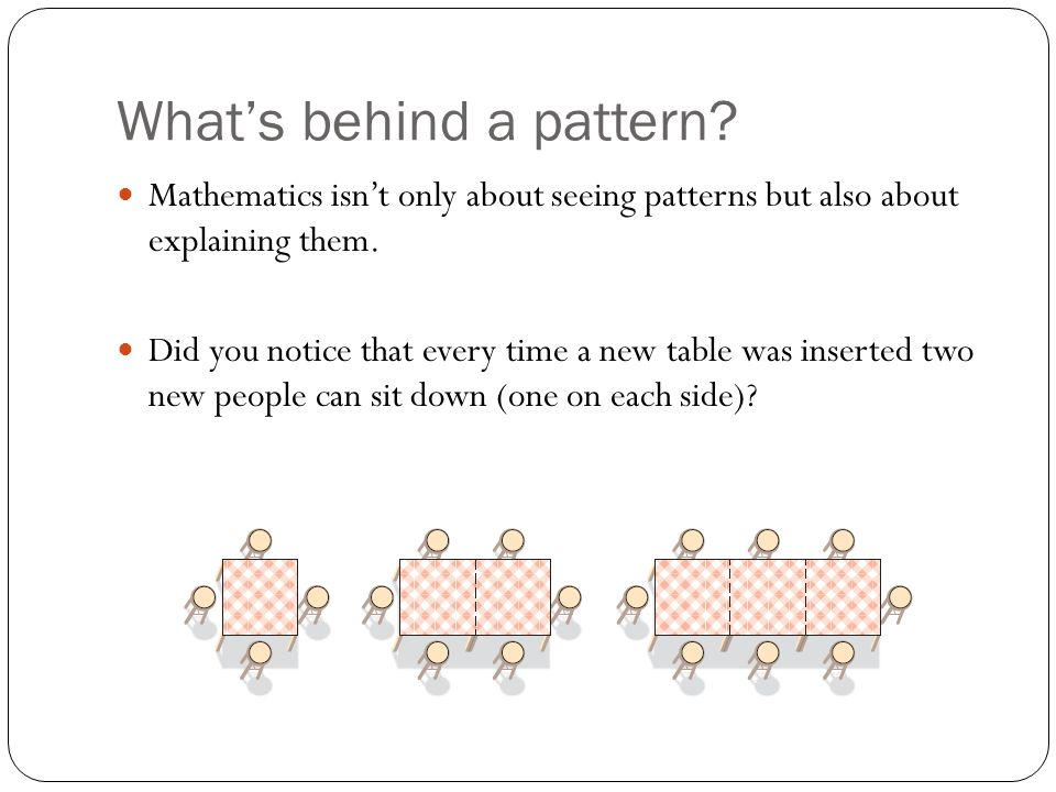 What's behind a pattern