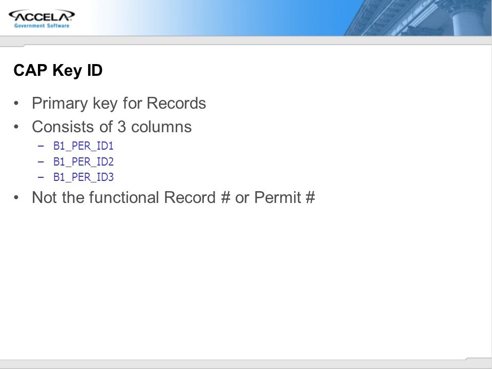 Primary key for Records Consists of 3 columns