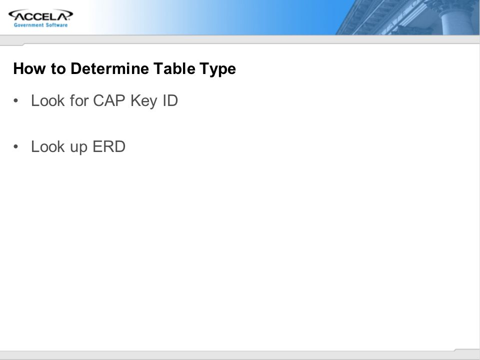 How to Determine Table Type