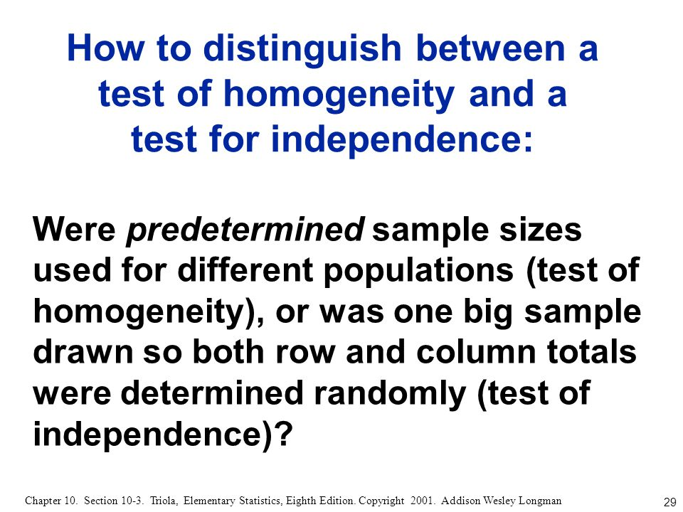 How to distinguish between a test of homogeneity and a test for independence: