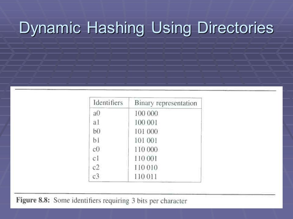Dynamic Hashing Using Directories