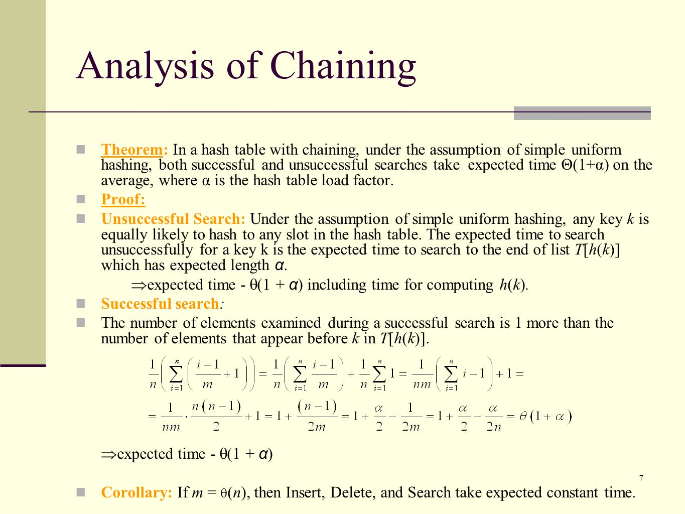 Analysis of Chaining