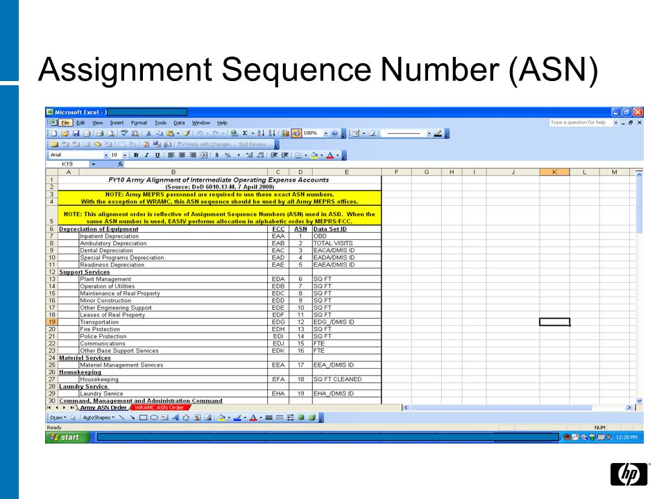 Assignment Sequence Number (ASN)