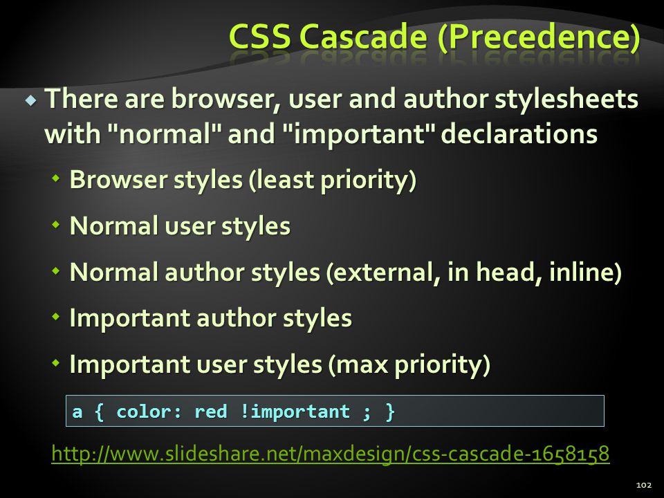 CSS Cascade (Precedence)