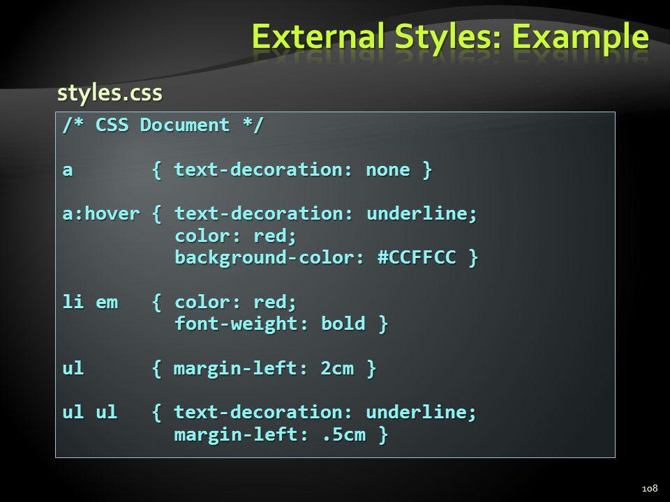 External Styles: Example