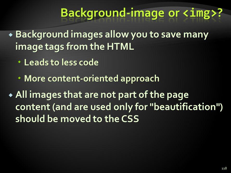 Background-image or <img>