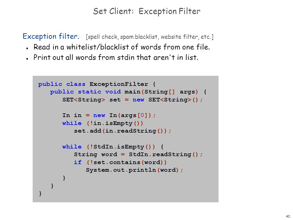 Set Client: Exception Filter