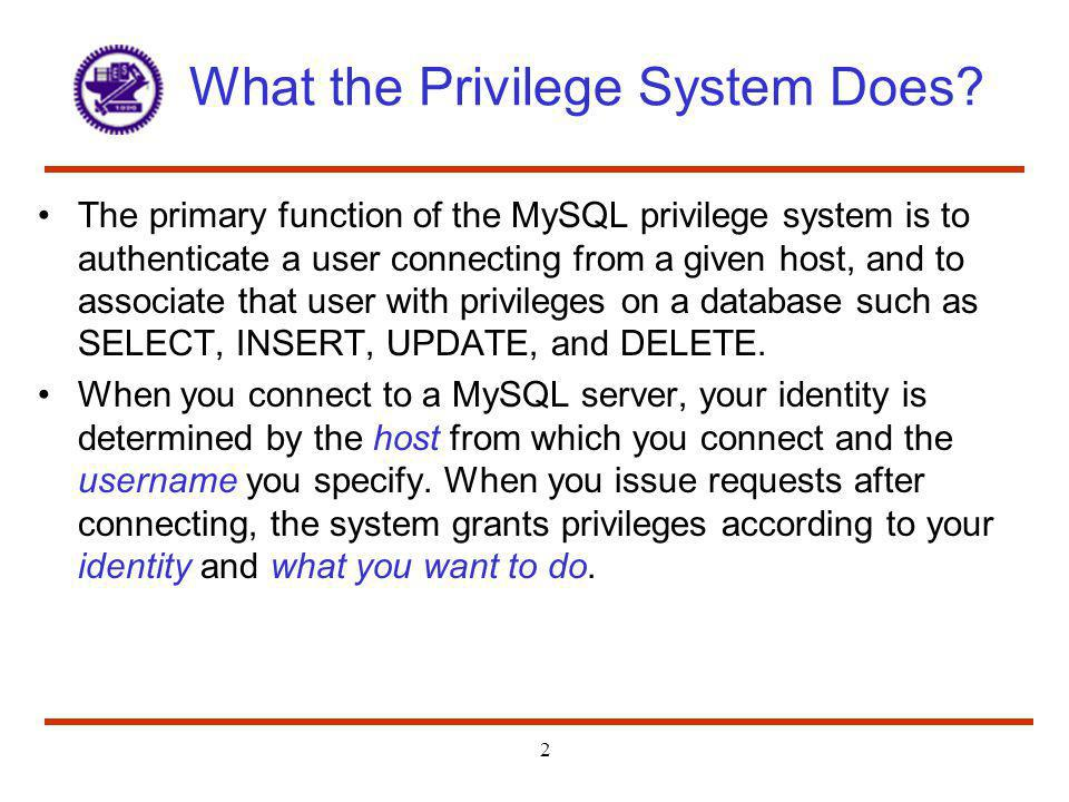 What the Privilege System Does