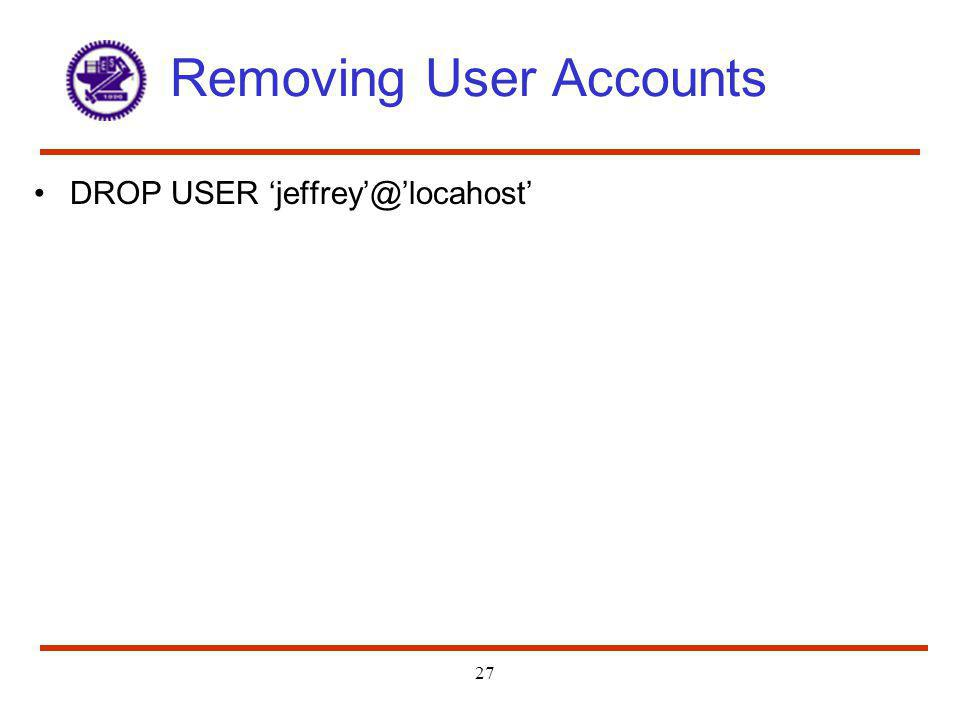 Removing User Accounts