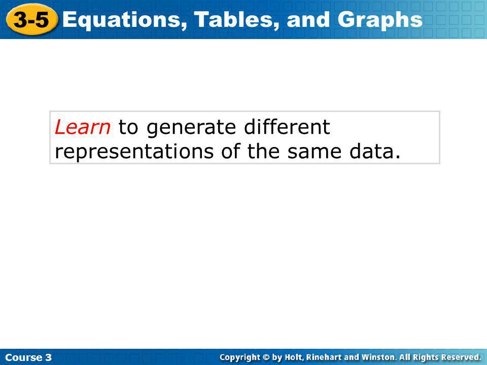 Learn to generate different representations of the same data.