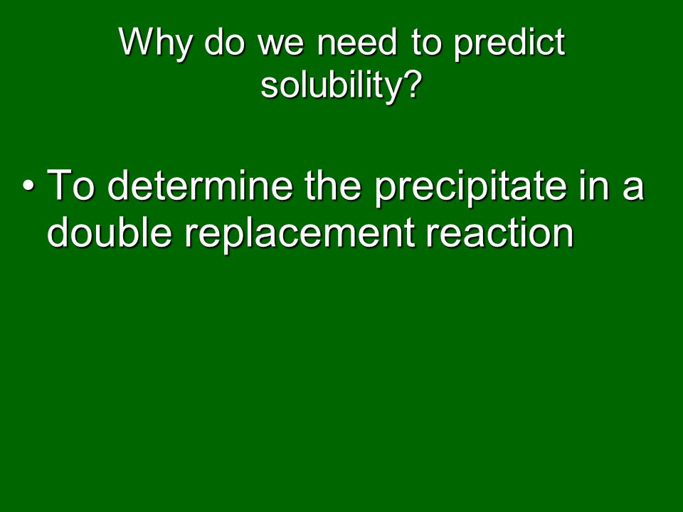 Why do we need to predict solubility