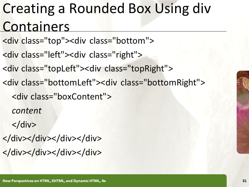 Creating a Rounded Box Using div Containers