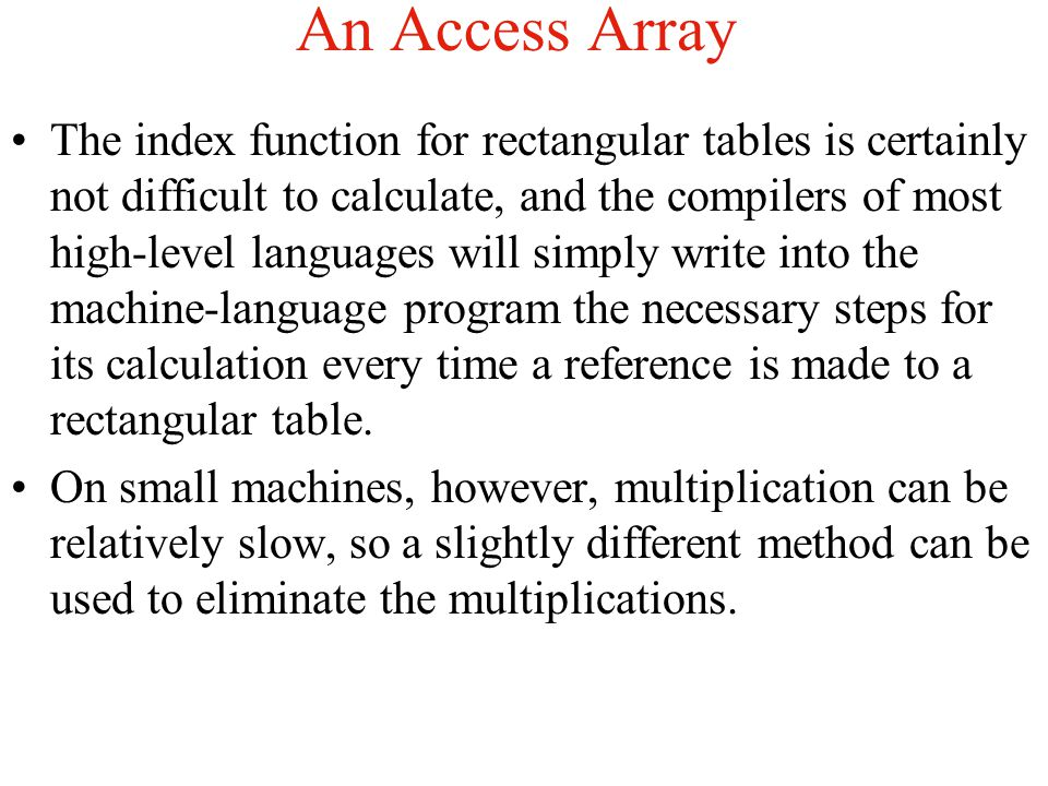 An Access Array
