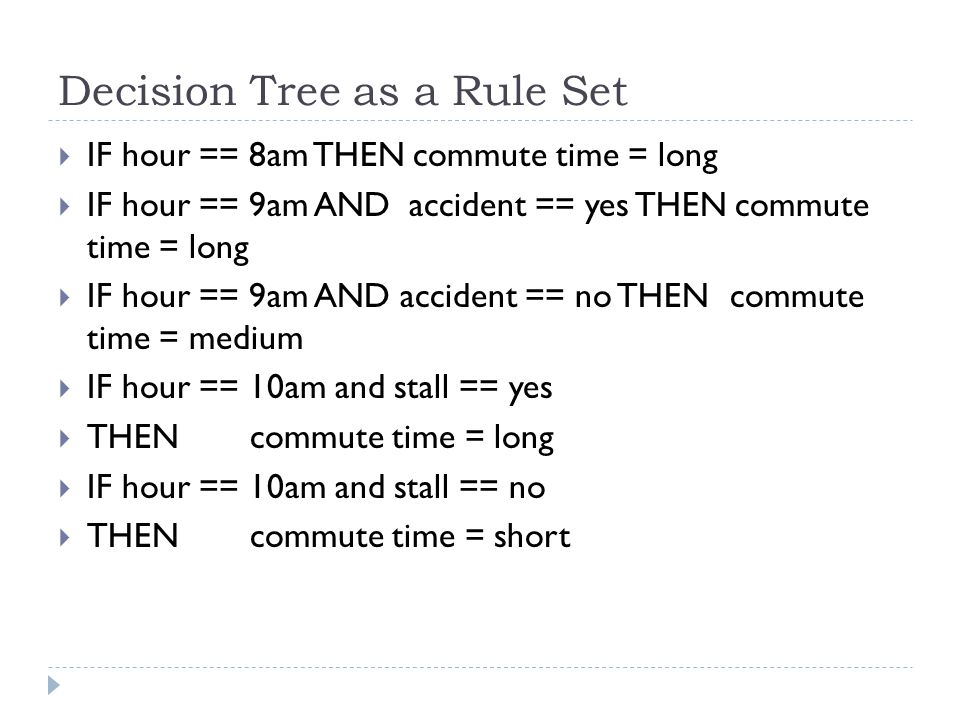 Decision Tree as a Rule Set