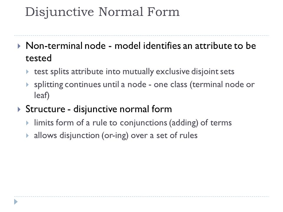 Disjunctive Normal Form