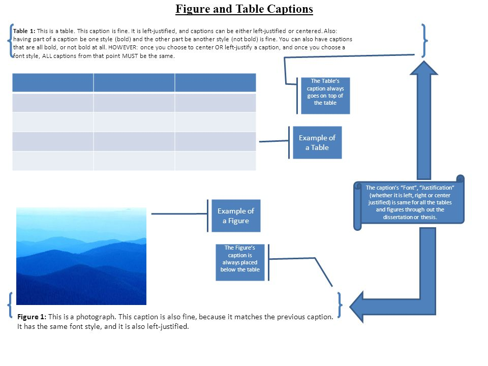 Figure and table captions ppt video online download for Table caption