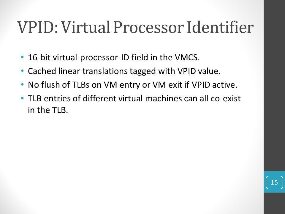 VPID: Virtual Processor Identifier