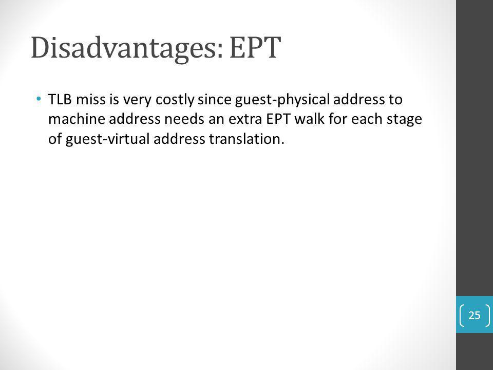Disadvantages: EPT