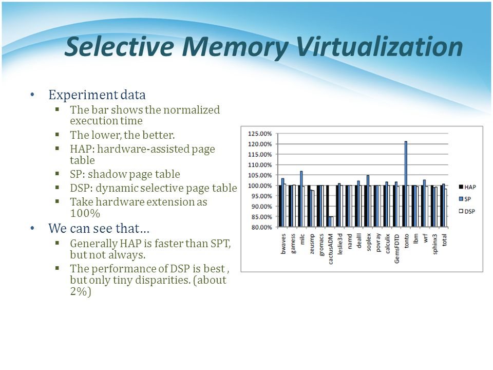Selective Memory Virtualization