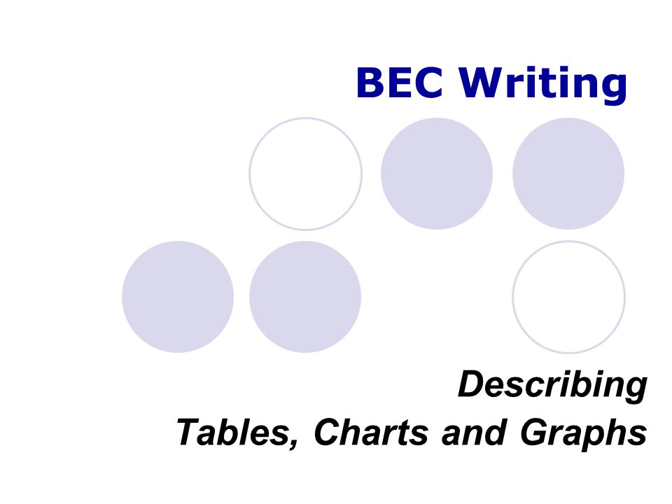 Describing Tables, Charts and Graphs