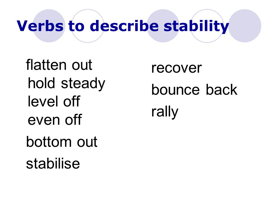 Verbs to describe stability