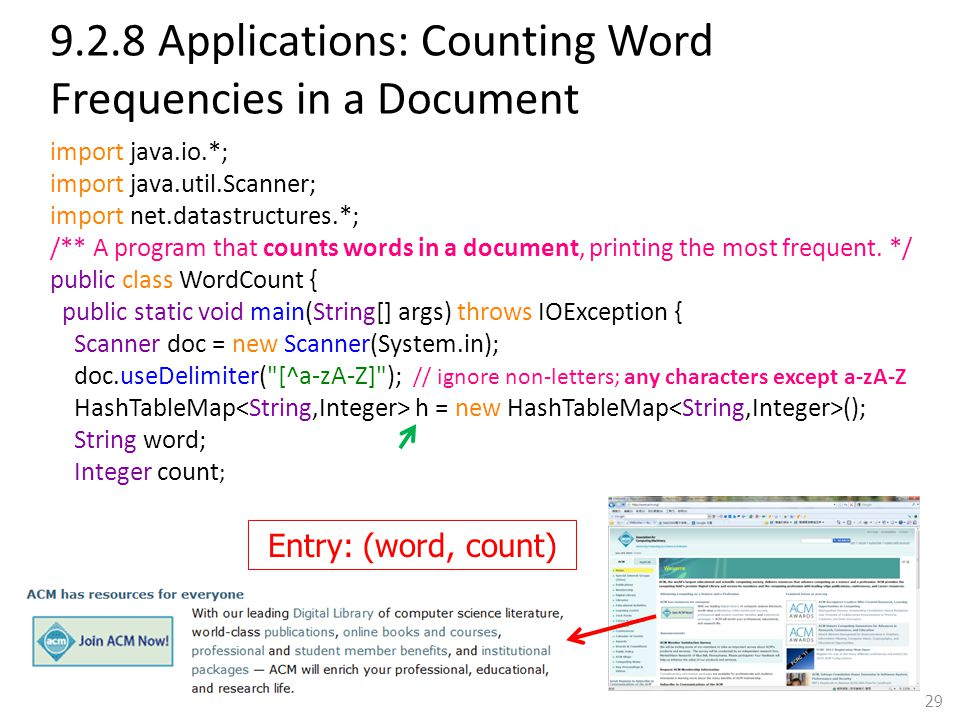9.2.8 Applications: Counting Word Frequencies in a Document