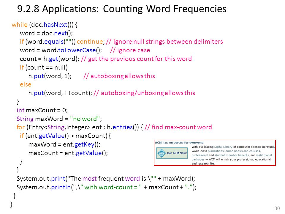 9.2.8 Applications: Counting Word Frequencies