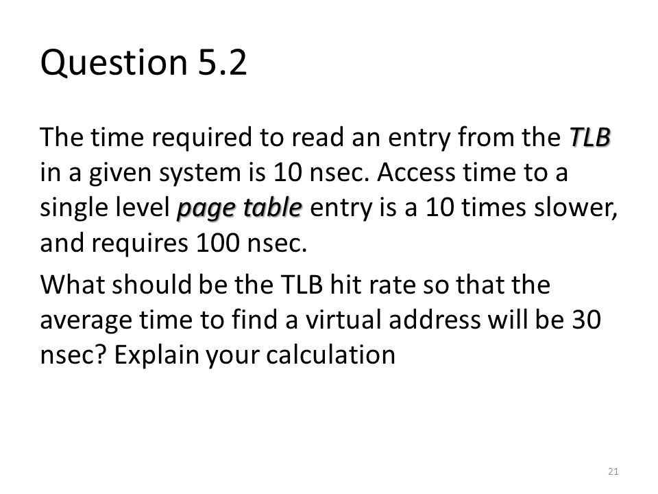 Question 5.2