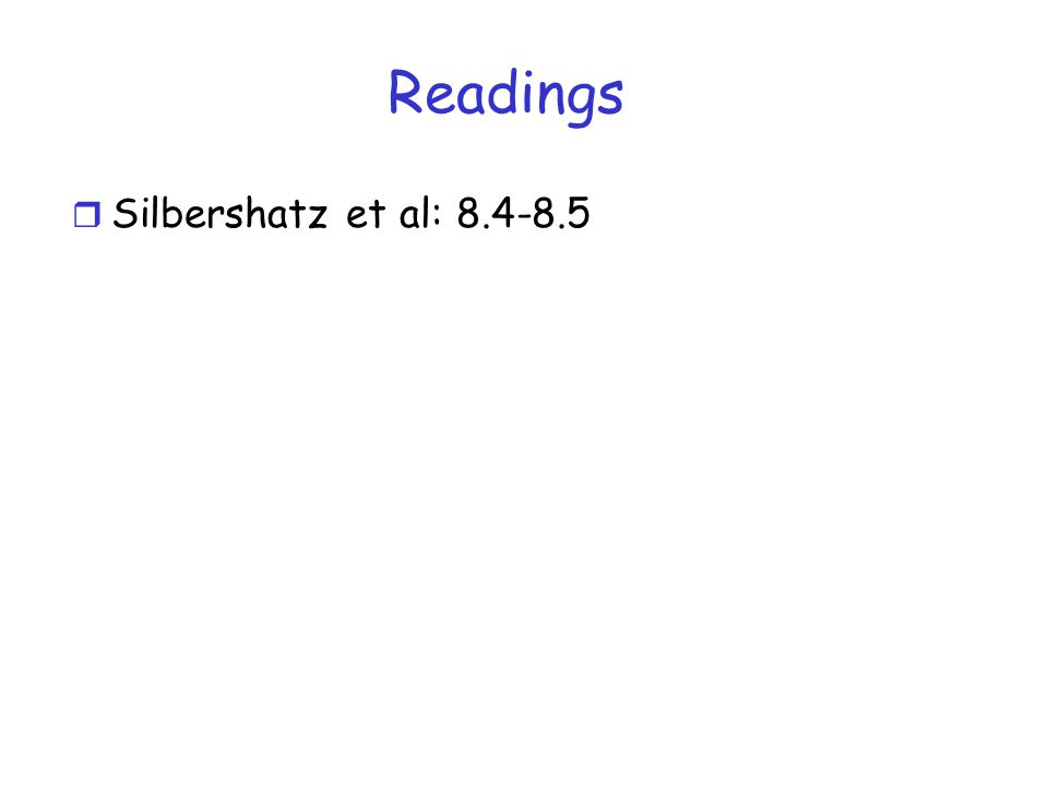 Readings Silbershatz et al: 8.4-8.5