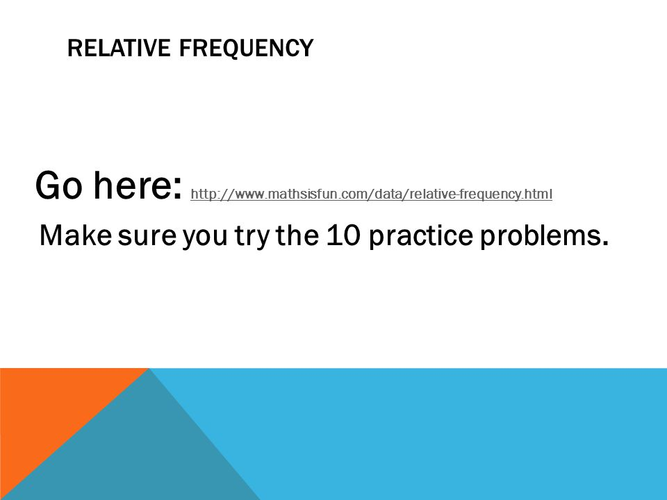 Make sure you try the 10 practice problems.