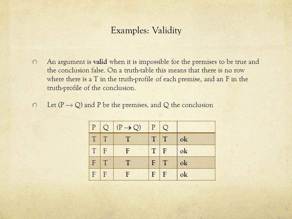 Examples: Validity