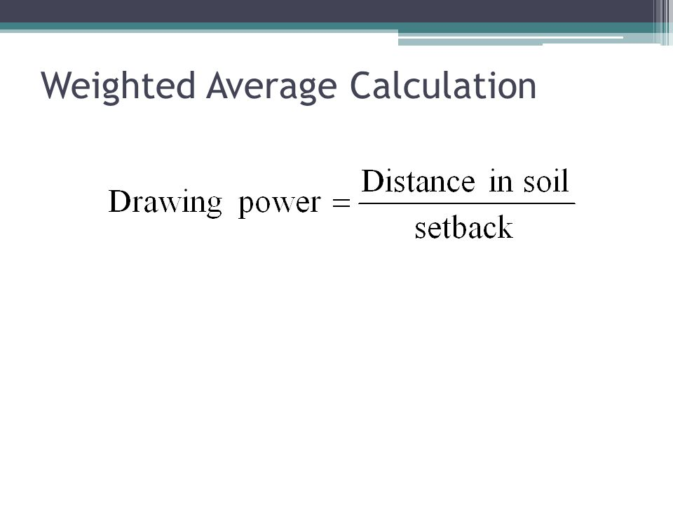 Weighted Average Calculation