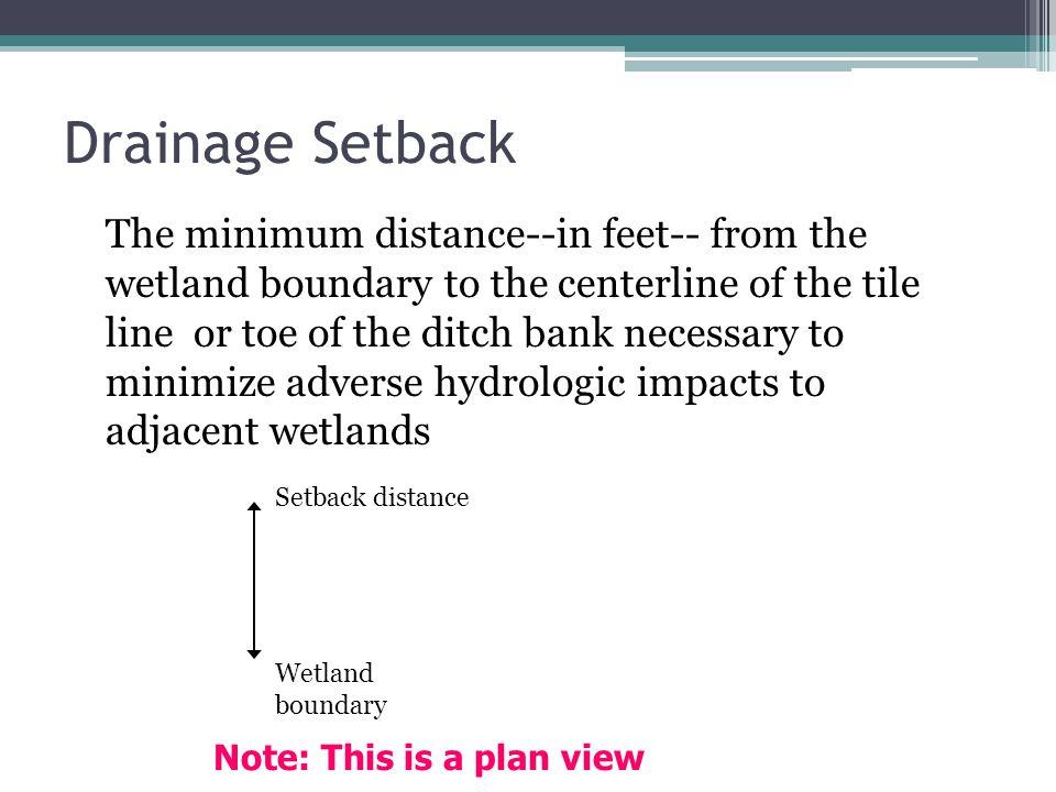 4/1/2017 Drainage Setback.