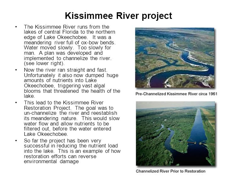 Kissimmee River project