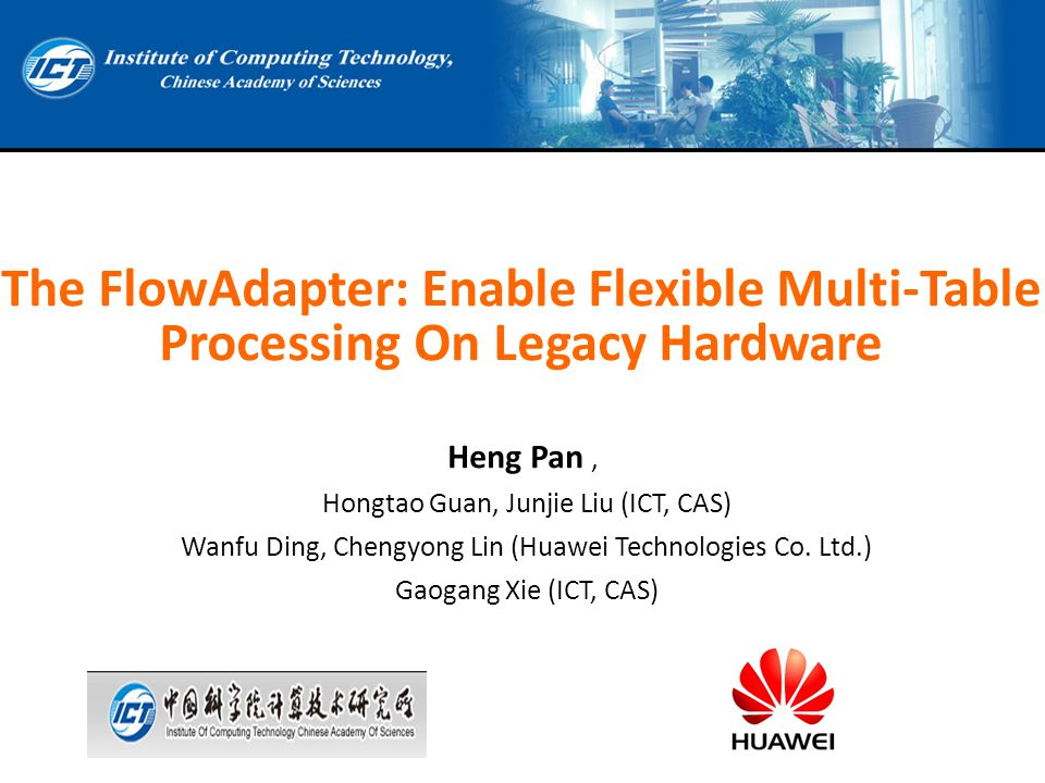 The FlowAdapter: Enable Flexible Multi-Table Processing On Legacy Hardware