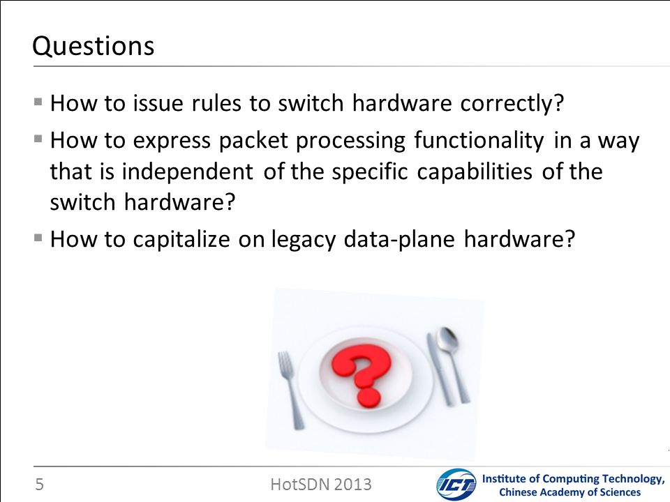 Questions How to issue rules to switch hardware correctly