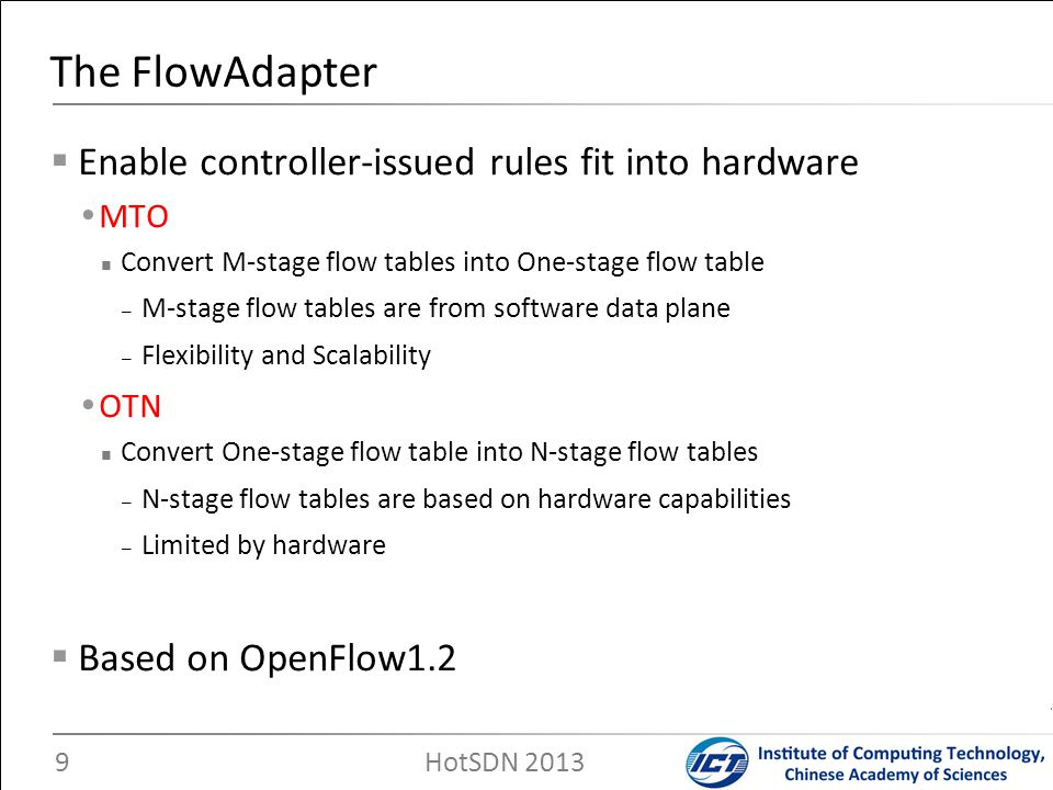 The FlowAdapter Enable controller-issued rules fit into hardware