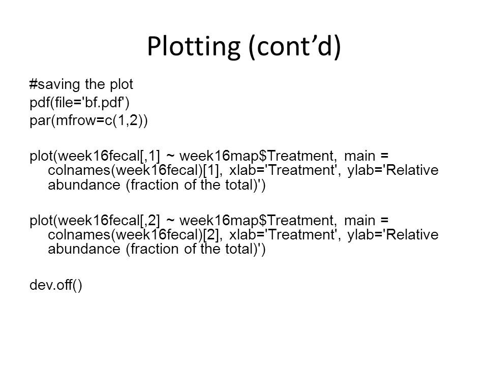 Plotting (cont'd)