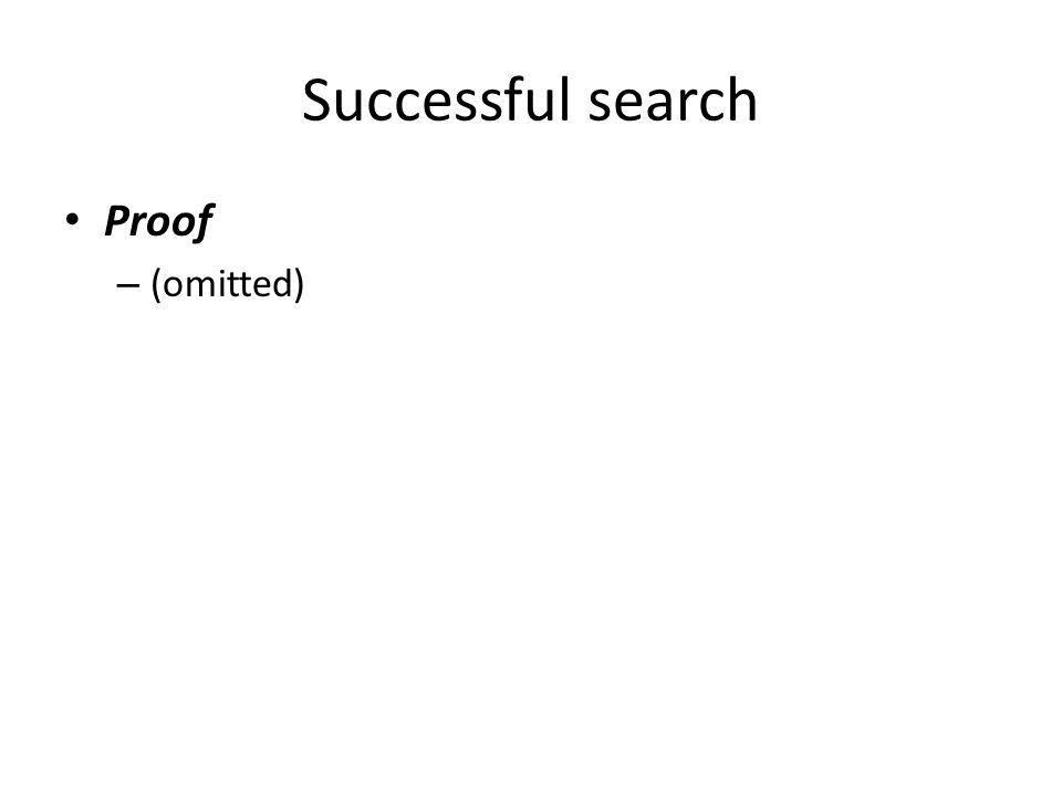 Successful search Proof (omitted)