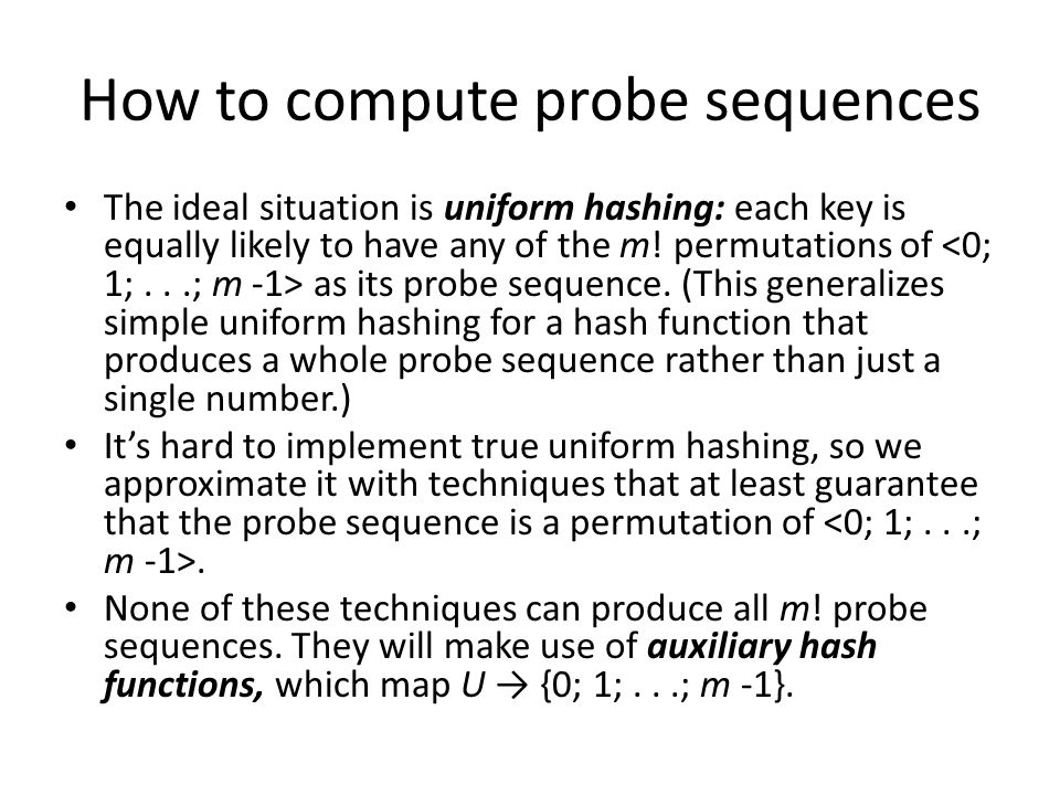 How to compute probe sequences