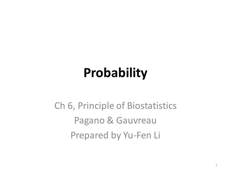 Ch 6, Principle of Biostatistics