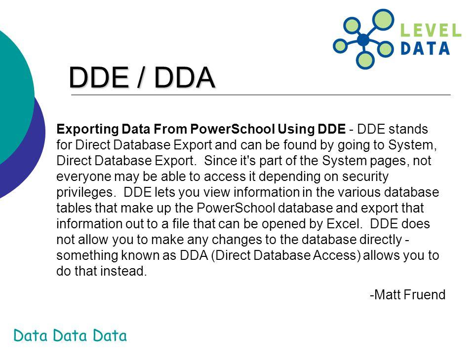 DDE / DDA