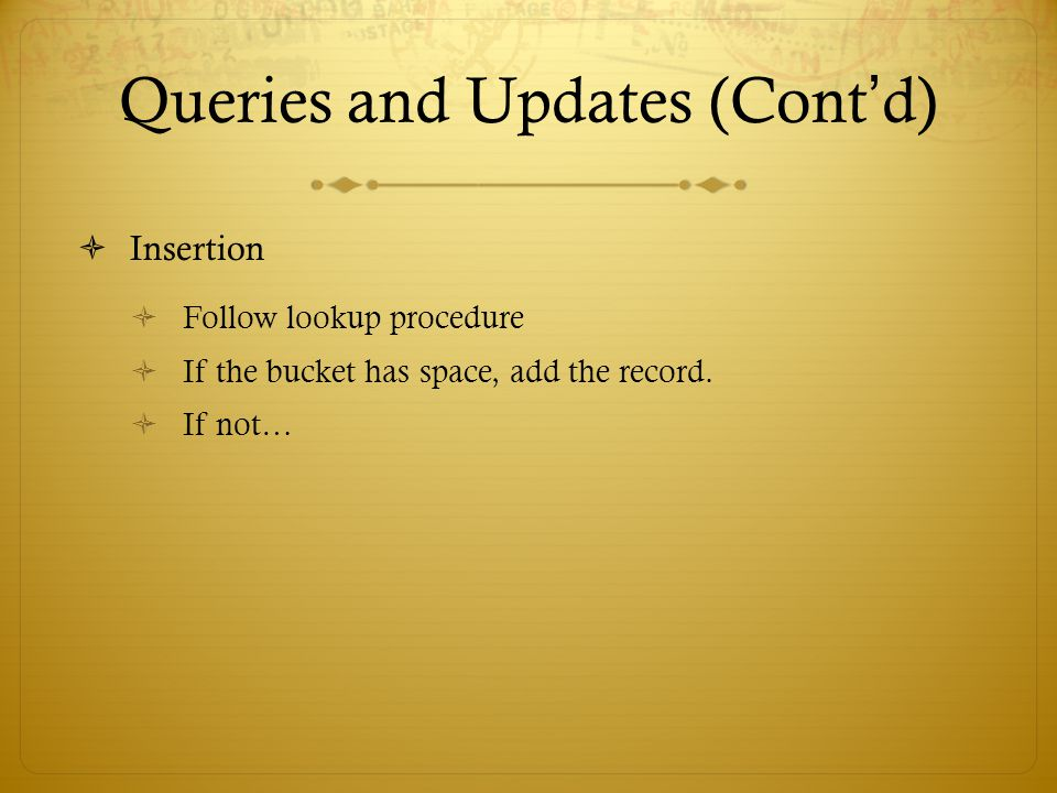 Queries and Updates (Cont'd)