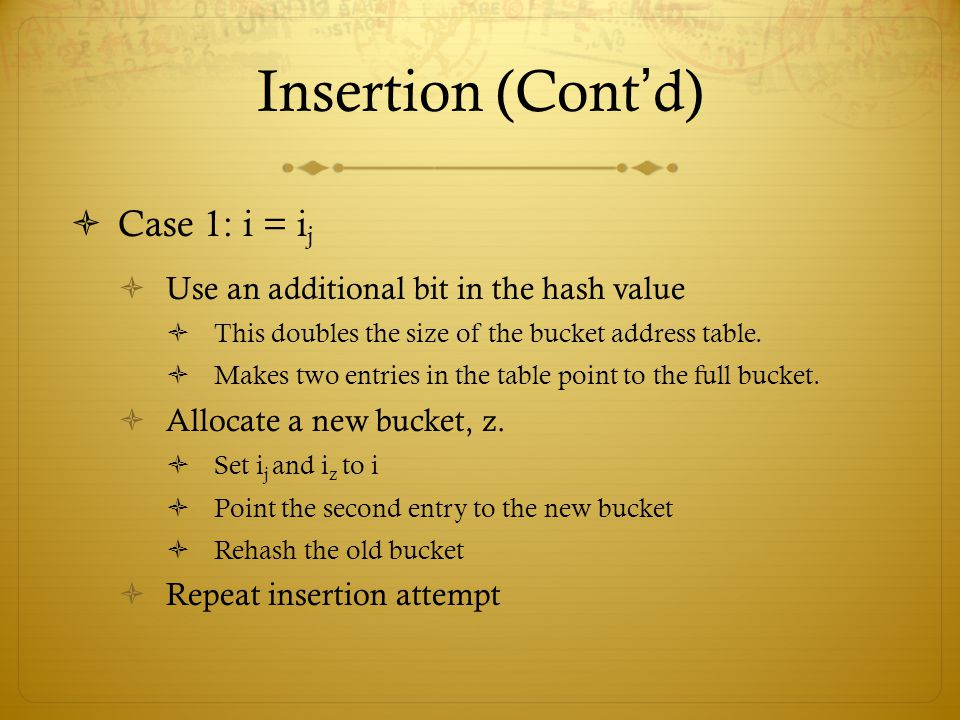 Insertion (Cont'd) Case 1: i = ij