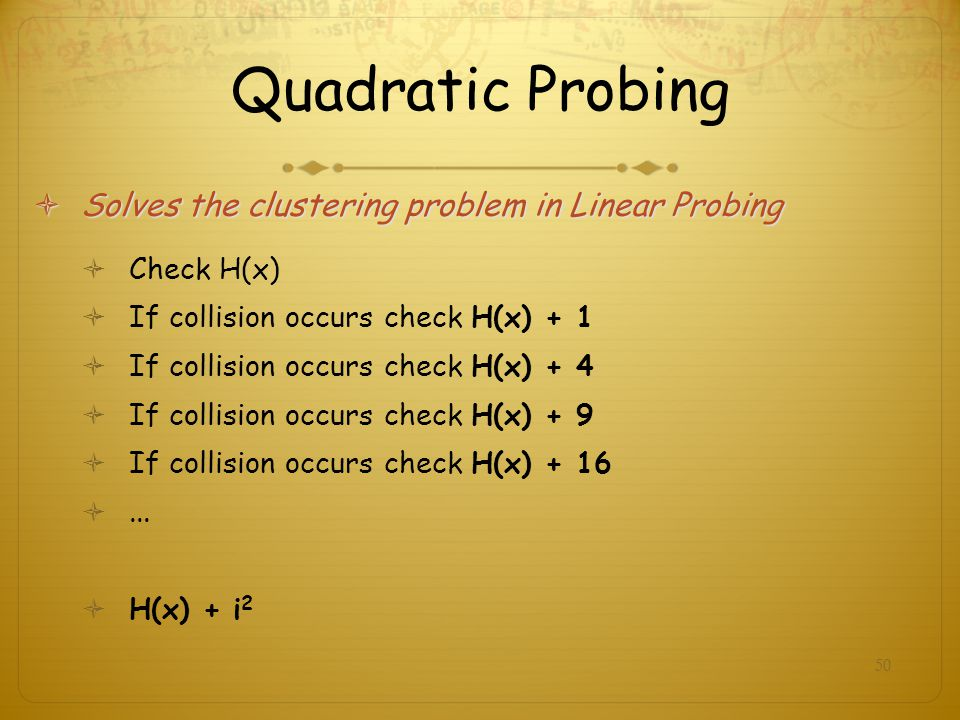 Quadratic Probing Solves the clustering problem in Linear Probing