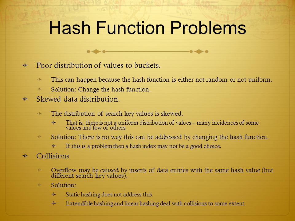 Hash Function Problems