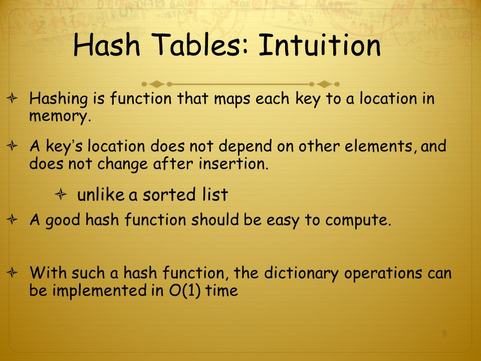 Hash Tables: Intuition